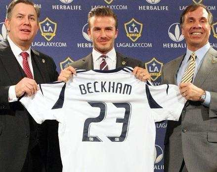Photo: Beckham de retour à L.A.