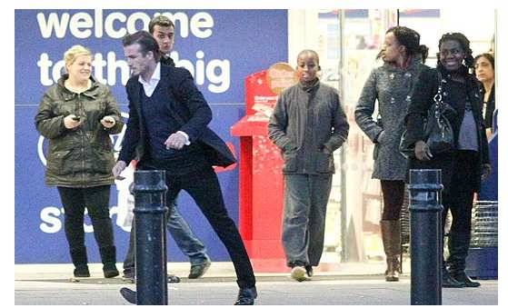 Photo : Beckham, l'homme pressé