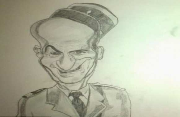 Photo : Berbatov caricature De Funès