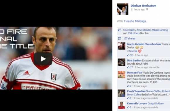 Photo : Berbatov drague Arsenal
