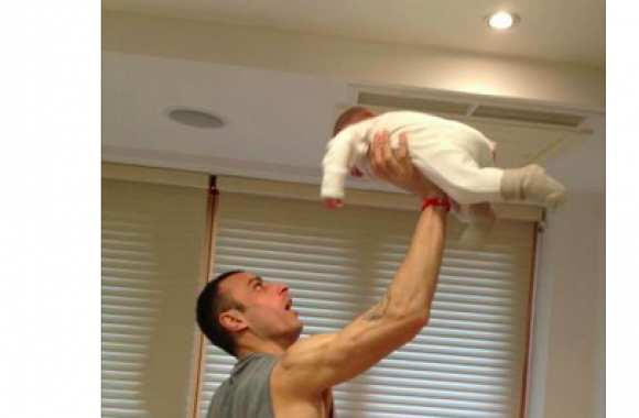 Photo : Berbatov et son fils
