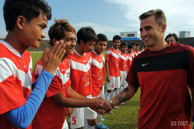 Photo : Cannavaro au Cambodge