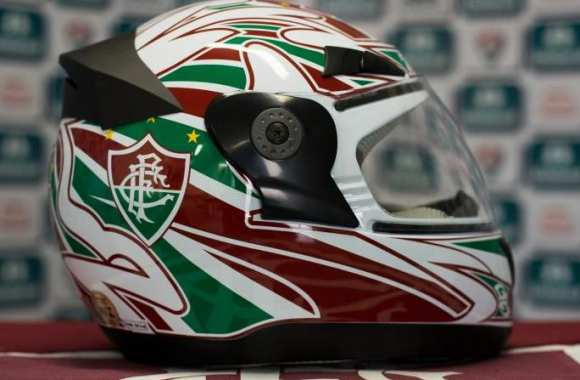 Photo : Casques de moto du club