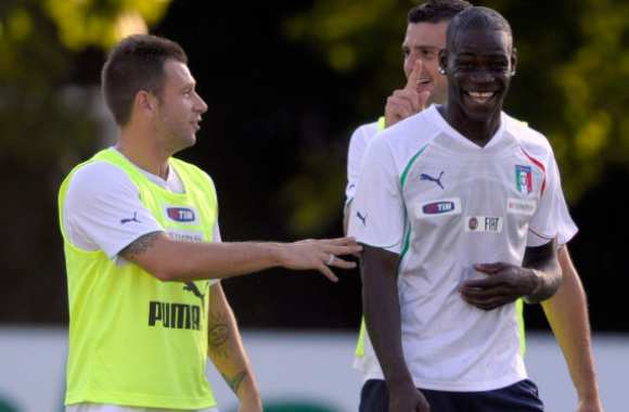 Photo : Cassano et Balotelli se poilent