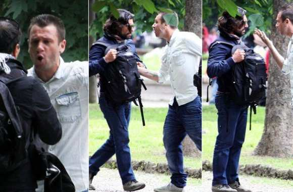 Photo : Cassano vs Paparazzi