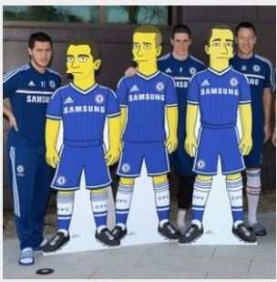 Photo: Chelsea dans les Simpsons