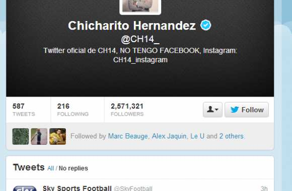 Photo : Chicharito sème le trouble