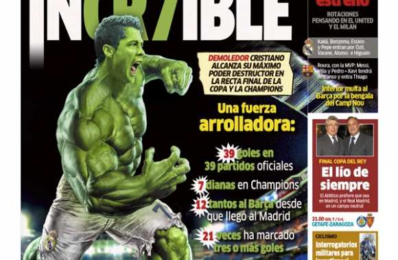 Photo : CR7 en Hulk