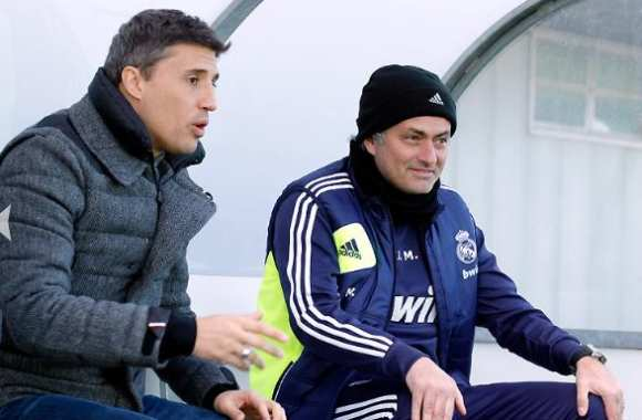 Photo: Crespo, en visite à Madrid