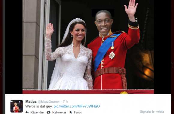 Photo : Danny Welbeck en prince William