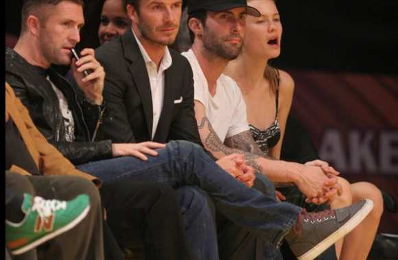 Photo : David Beckham fan des Lakers