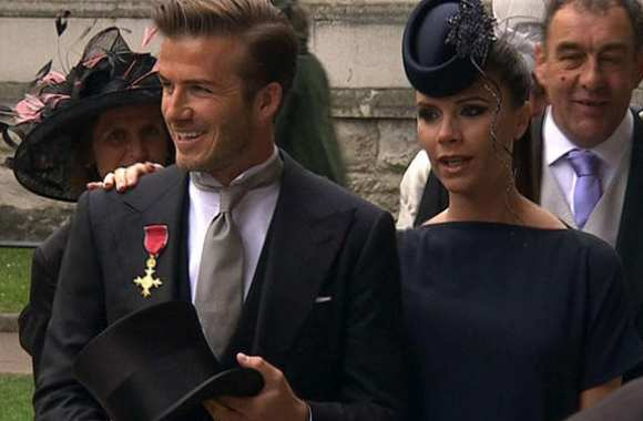 Photo : David et Victoria au mariage princier