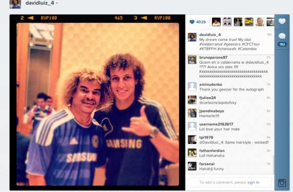 Photo : David Luiz & Valderrama