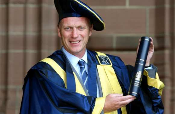Photo : David Moyes diplômé