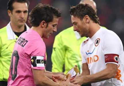 Photo : Del Piero et Totti