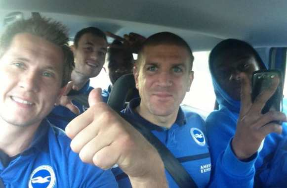 Photo : déplacement en taxi pour Brighton