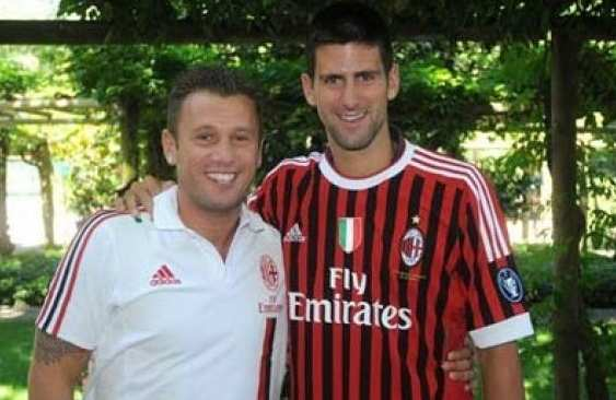 Photo : Djokovic au Milan AC
