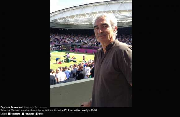 Photo: Domenech à Wimbledon
