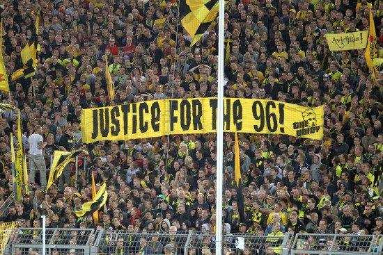 Photo : Dortmund solidaire de Liverpool