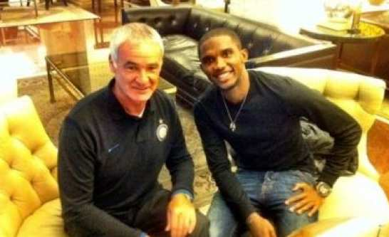 Photo : Eto'o avec l'Inter