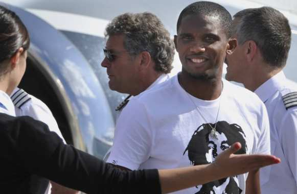 Photo: Eto'o et Bob Marley