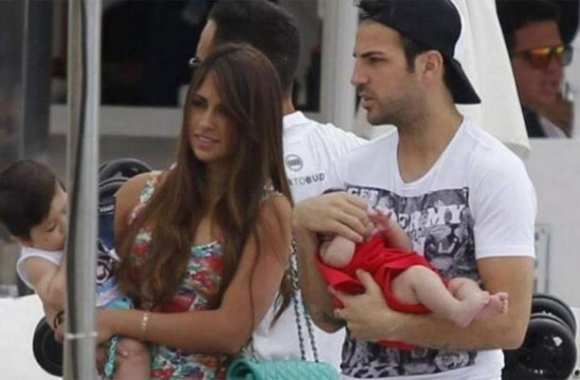 Photo : Fabregas et la copine de Messi