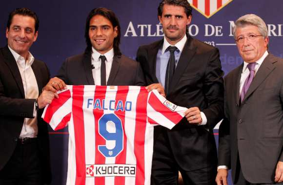Photo : Falcao à l'Atletico Madrid