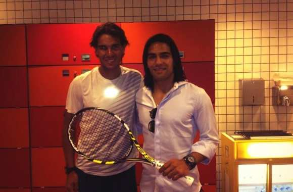 Photo : Falcao et Nadal