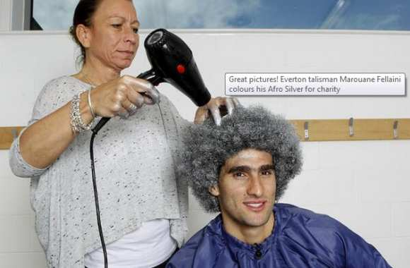Photo : Fellaini teint son afro