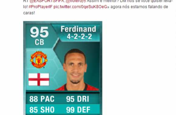 Photo : Ferdinand rapide sur FIFA