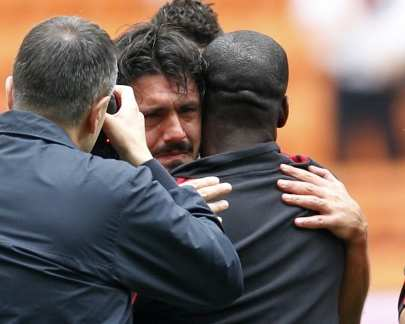 Photo : Gattuso pleure