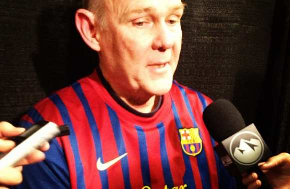 Photo : George Karl porte le maillot du Barça