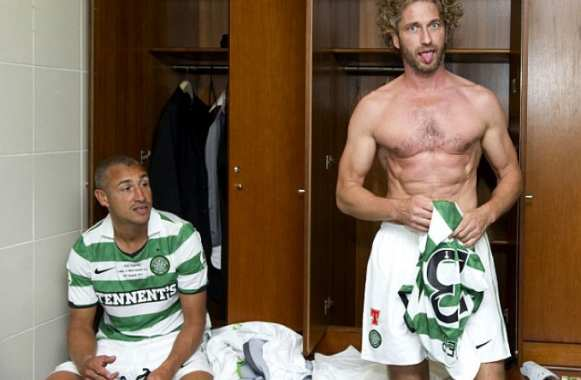 Photo : Gerard Butler sous le maillot du Celtic