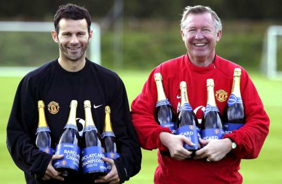 Photo : Giggs et Ferguson en 2003