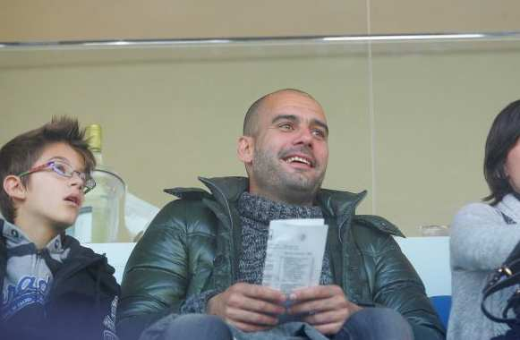 Photo : Guardiola à Brescia