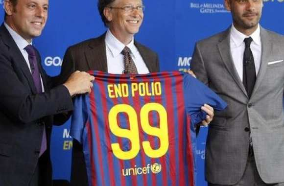 Photo: Guardiola et Bill Gates