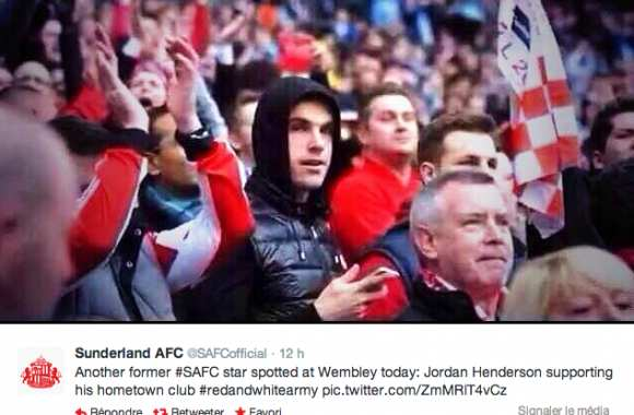 Photo : Henderson avec les supporters
