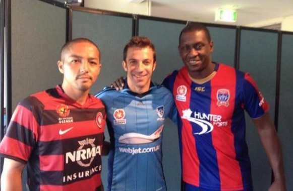 Photo : Heskey et Del Piero en Australie