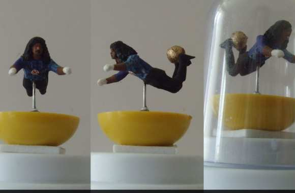 Photo : Higuita et sa miniature