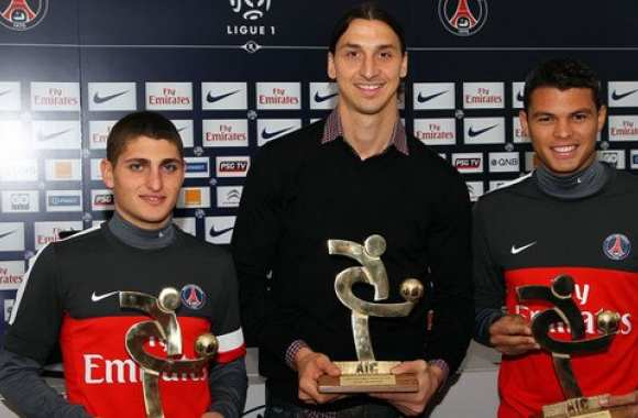 Photo: Ibra, Silva et Verratti récompensés