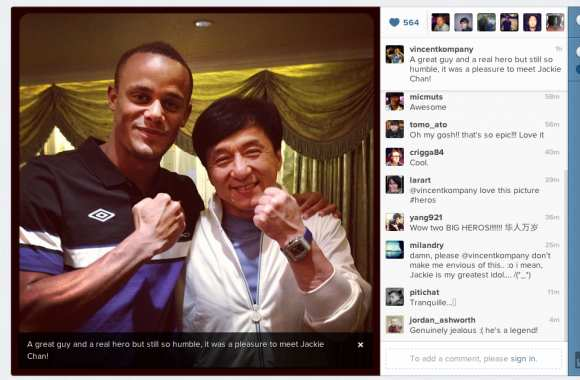 Photo: Jackie Chan en bonne Kompany