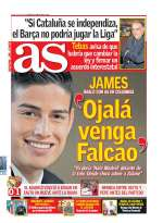 Photo : James attend Falcao