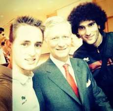 Photo : Januzaj, Fellaini et le Roi