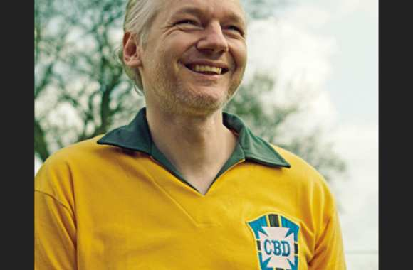 Photo : Julian Assange l'auriverde