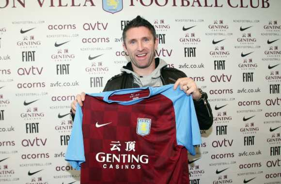 Photo : Keane à Aston Villa