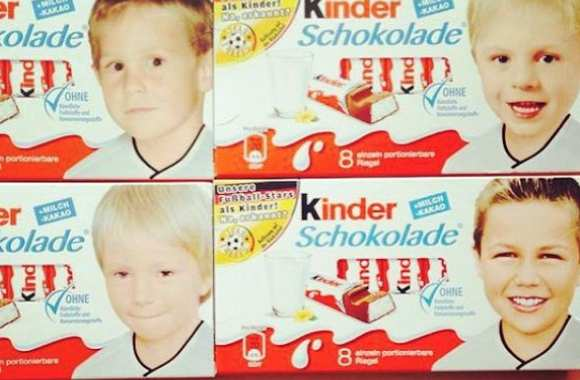 Photo : Kroos, Reus et Götze enfants