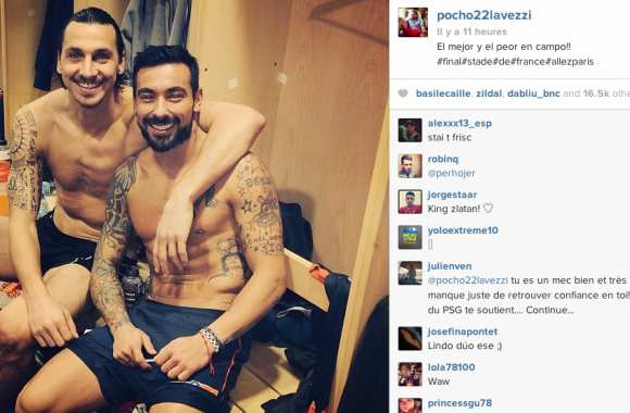 Photo : L'autodérision de Lavezzi