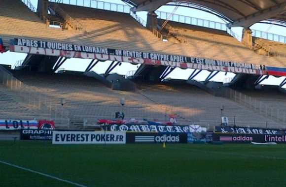 Photo : La banderole des supporters lyonnais