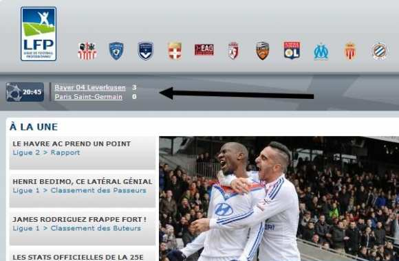 Photo : La bourde de la LFP