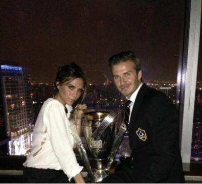 Photo : La coupe, Beckham et Victoria